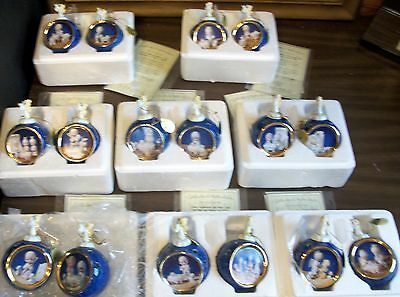 Precious Moments Bradford 16 pc Set Savior Is Born Christmas Ornament 1-8 Issue