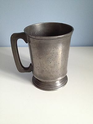 Antique Victorian Pewter 1 Pint Tankard By James Edwards No.2