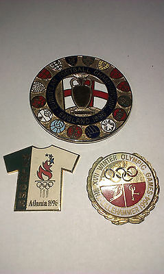 3 badges Olympic summer and winter Football