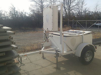 Radar Speedtrak Trailer With Solar Panel Charging Needs Batteries