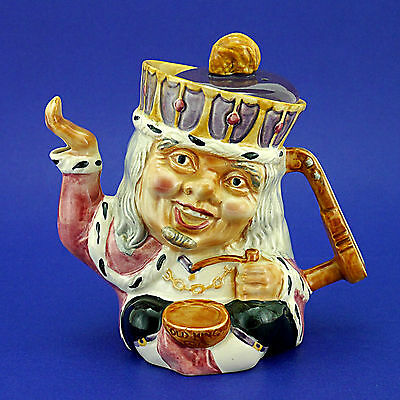 """Vintage Shorter & Sons Ltd Two-Faced 'Old King Cole' Character Teapot - 7"""" High"""