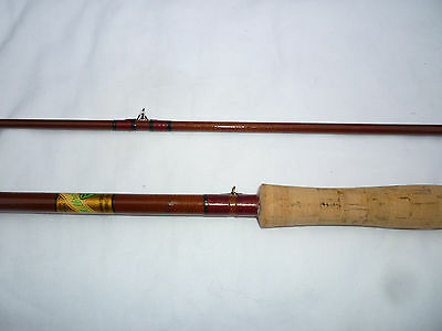 Vintage Milbro Milbrolite Fibreglass Fly Fishing Rod 2pc  8 1/2ft / 2.60m