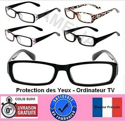Lunettes anti fatigue-protection radiations-écran d'ordinateur, TV + etui - H&F-