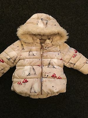 NEXT baby girls Winter coat 9-12 months