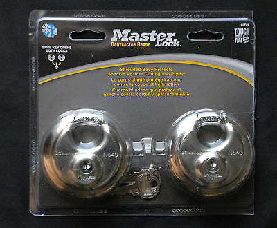2-Master Lock Contractor Grade Security Locks With Two Keys