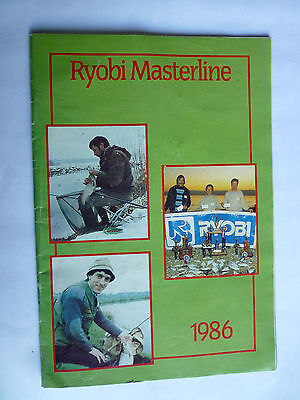 Ryobi Masterline 1986 Fishing Tackle/Equipment Catalogue/Guide