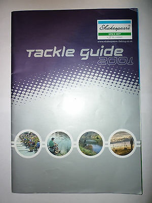 Shakespear 2001 Fishing Tackle/Equipment Guide/Catalogue (Rods/Reels/Fly/Sea)