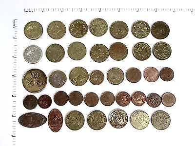 Assorted Tokens and World Coins