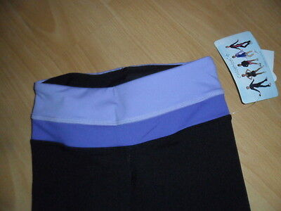 Chloe Noel ice skating trousers brand new size cm approx age 10-11 black purple