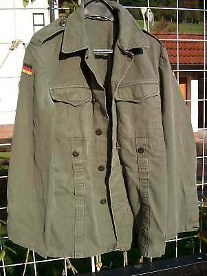 Old style German army field jacket olive green Moleskin - SMALL  ,Chest 35 ""