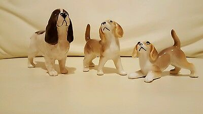 Lovely  Beswick Spaniel & 2 Other Dogs. Unmarked