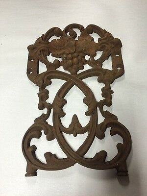Antique Cast Iron Architectural Salvage Ornate Gate Piece Garden GRAPE