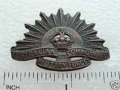 WWI Australian Commonwealth Military Forces Collar Badge marked STOKES MELB.