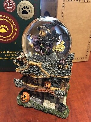 """Boyd's Bears """"witchy Boos Haunted Mansion"""" Snow Globe Halloween"""