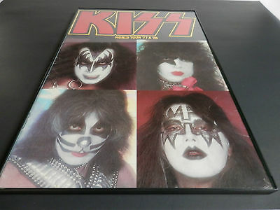 Vintage KISS World Tour '77 & 78 Rock & Roll Concert Program 11x17 Nice!!!