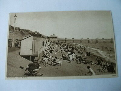 Early 20th Century Postcard The Sands Boscombe Bournemouth