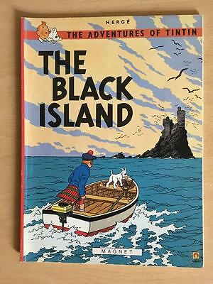 """Vintage Herge The Adventures Of Tintin """" The Black Island """"magnet Lot 9/12"""