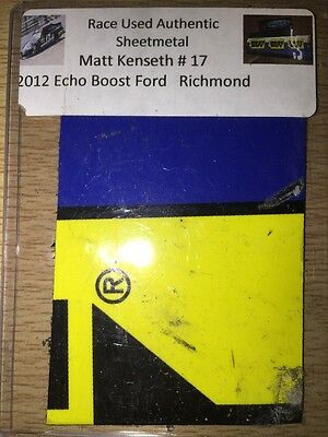 Matt Kenseth 2012 Ecoboost Ford NASCAR Authentic Race Used Sheet Metal