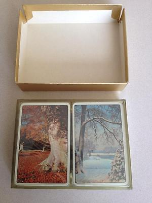 Sealed Vintage Double / Twin Pack Of De La Rue Playing Cards, Rare?