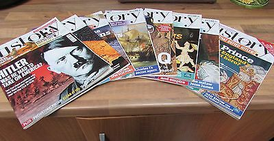 Eight Copies Of Bbc History Magazines Interesting Historical Articles Vgc