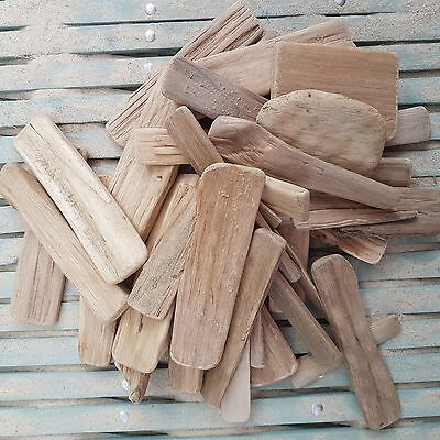 Approx 60 Pieces 1000G Smooth Clean Wooden Wood Driftwood For Craft Home Decor.