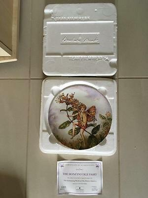 "Danbury Mint "" The Honeysuckle Fairy "" Cicely Mary Barker / Wedgwood. Lot 2 Of 8"