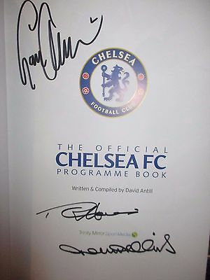 Official Chelsea Programme Book Signed By Three Players Harris Hollins Tambling