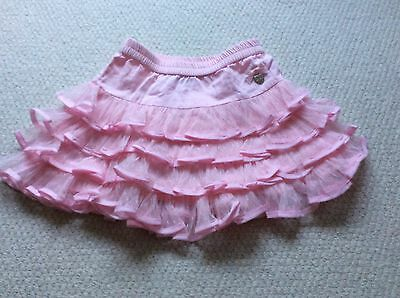 Girls Le Chic pink ruffle skirt - 104cm (approx age 4-5)