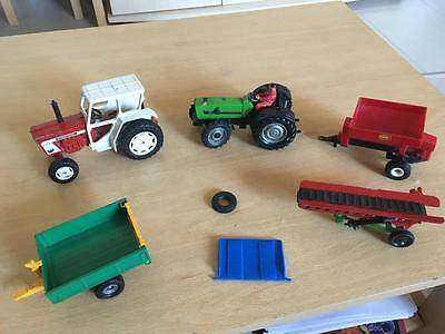 Large Lot Of Vintage Britains Farm People, Animals, Vehicles..lot 5 Of 6 Rare?