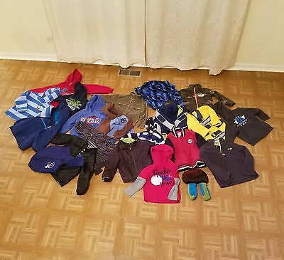 Boys jackets and hoodies lot mixed sizes3T and up