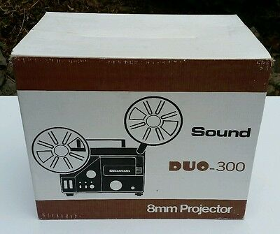 VINTAGE Retro BNIB Sound Duo 300 Super 8mm Projector With Microphone New Boxed
