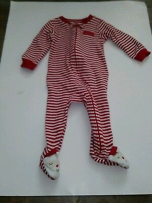 Boy's Carter's Brand Christmas Sleeper Size 9 months Red and White