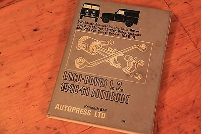 LAND ROVER 1, 2. 1948-61 AUTOBOOK WORKSHOP MANUAL by AUTOPRESS.