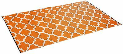 Tangier - Carrot & White (5' x 8') 5-Foot x 8-Foot