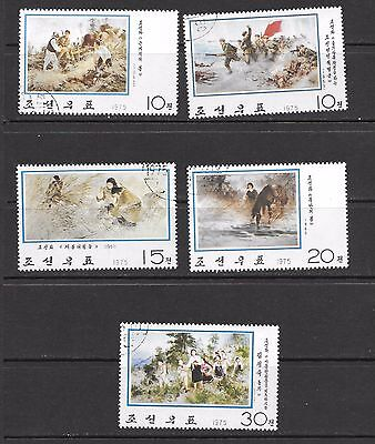 1975 Paintings 5 stamps set 2nd series used