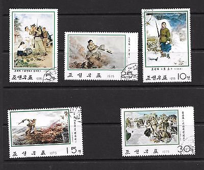 1975 Paintings 5 stamps set 3rd series used