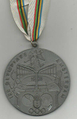 remembrance medal   Olympic Games AMSTERDAM 1928 - with tape / 8 cm !! VERY RARE