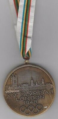 remembrance medal   XIV.Olympic Games LONDON 1948 // with tape  !!  VERY RARE