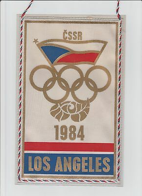 Orig.pennant    Olympic Games LOS ANGELES 1984  // Team CZECHOSLOVAKIA  !!  RARE