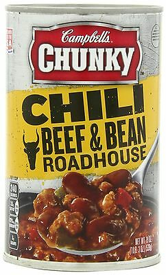 Campbell's Chunky Chili Beef & Bean Roadhouse 19 Ounce (Pack of 12) Pack of 12