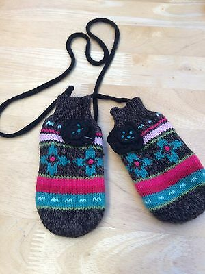 Catimini Girls Mittens Size 18-36 Months New