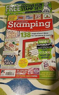 creative stamping magazine issue 34 with free Christmas stamps