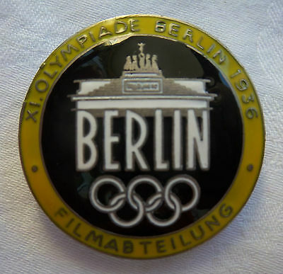 Orig.Pin  Olympic Games BERLIN 1936  -  FILMABTEILUNG / FILM  !!  EXTREM RARE