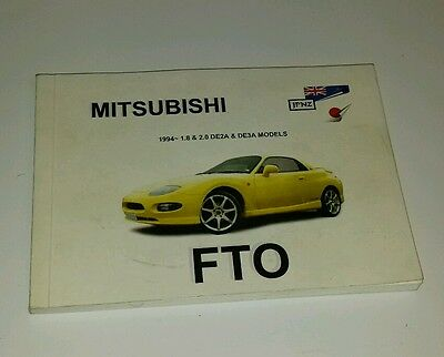 Mitsubishi FTO Owners Manual Handbook