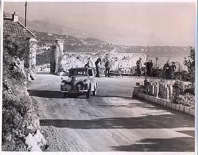 Hillman Minx LKJ1 1949 Monte Carlo Rally - original press photo