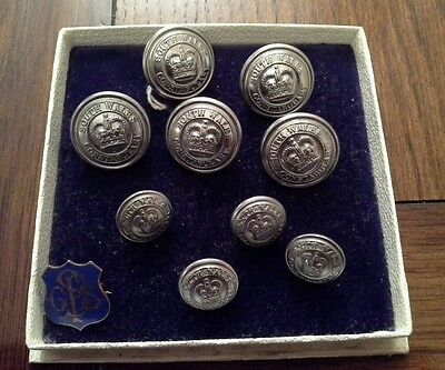 South Wales Constabulary Vintage Set Dress Uniform Buttons
