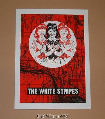 Rob Jones White Stripes NA Tour Set Handbill Poster Print Signed & Numbered 2005