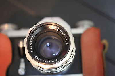 Contax/Pentacon F camera with Carl Zeiss Biotar 58mm f2 with original lens hood!