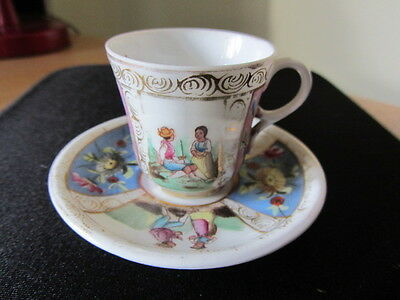 Dresden miniature cup and saucer