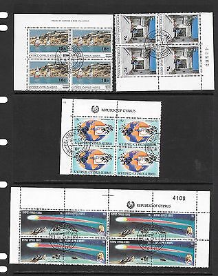 Cyprus 1986 Anniversaries and Events Block of Four ( CTO ) Used